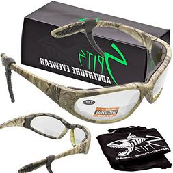 Hercules Foam Padded - BIFOCAL Safety Glasses - Forest Camo