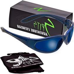 Hercules Safety Glasses - Blue Frame - Grey Lenses -G-Tech B