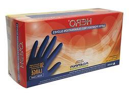 Adenna Hero 14 mil Latex Powder Free Exam Gloves  Box of 50