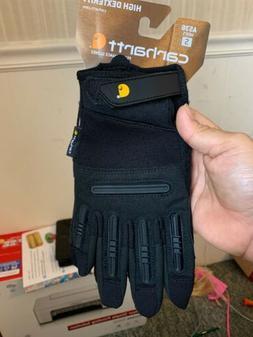 Carhartt High Dexterity Gloves Size Small Black NWT Style A5