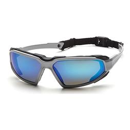 Pyramex Highlander Safety Eyewear, Ice Blue Mirror Anti-Fog