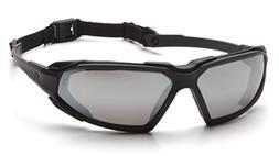 Pyramex Highlander Glasses, Slvr Mr AF Lens, Blk, 12pk