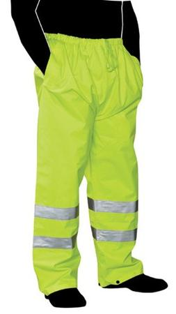 "Liberty HiVizGard Polyester Class E Rain Pant with 2"" Wide S"