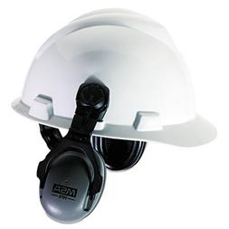 "MSA ""HPE Cap-Mounted Earmuffs, 27NRR, Gray/Black"" Unit of me"
