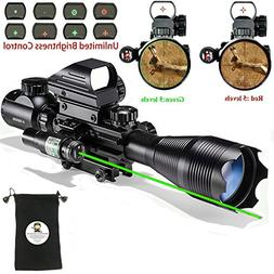 Hunting AR15 Tactical Combo Rifle Scope C4-16x50EG with Gree