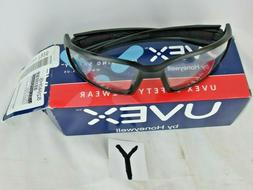 Uvex Hypershock Safety Glasses Black Frame Clear Hydroshield