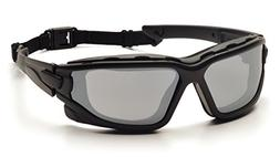 Pyramex I-Force Slim Safety Goggle, Black Frame/Silver Mirro