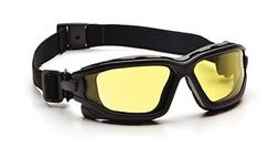 Pyramex I-Force Safety Glasses,Black Strap-Temples/Amber Ant