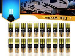 LED Monster 20-Pack Ice Blue LED Light Bulbs RV Trailer 24-S