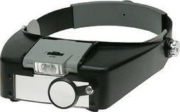 SE Illuminated Multipower LED Binohead Magnifier, Visor, Len