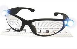 SAS Safety 5420-20 LED Inspectors Readers Safety Glasses, Bl