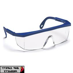 Pyramex Integra Safety Eyewear, Clear Lens With Blue Frame