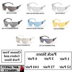 COMPLIANT CHOOSE YOUR COLOR 1 PAIR PYRAMEX ZTEK SAFETY GLASSES ANSI Z87.1