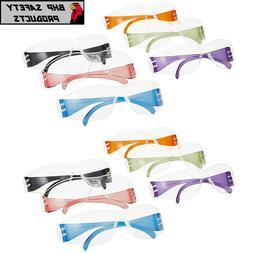 Intruder Multi-Color Safety Glasses - Clear Lens w/Assorted