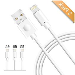iPhone Charger 6ft, Avoalre 3 Pack Durable Charging Cable fo