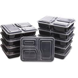Glotoch 50 Pack 34 Ounce Lunch Box Containers Set with Lid f