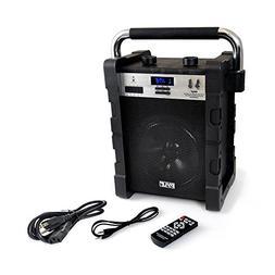 Pyle jobsite radio Portable Heavy-Duty Wireless Bluetooth AM