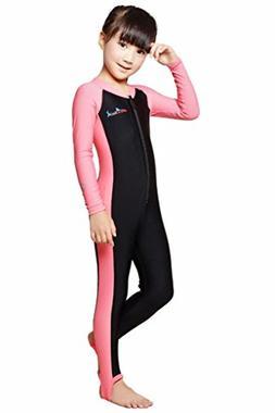 Kids One Piece Swimsuit Sun UV Protective Rash Guard Swimwea