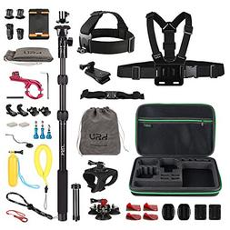 HSU Accessories Kit for GoPro HERO 5 4 3+ 3 2 1 ,Sports Came