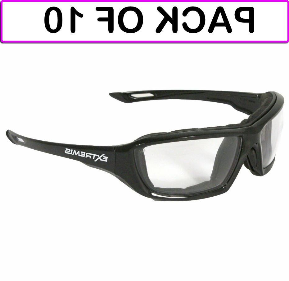 Radians XT1-11 Foam Lined Black Frame Safety Glasses Clear