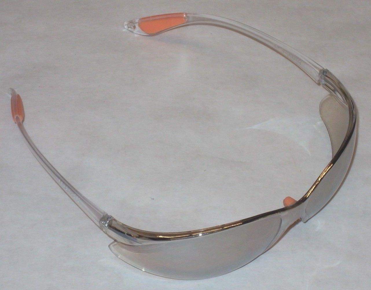 10 pr clear safety glasses w orange