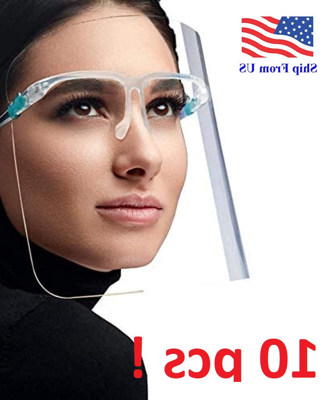 10 set face shield guard mask safety