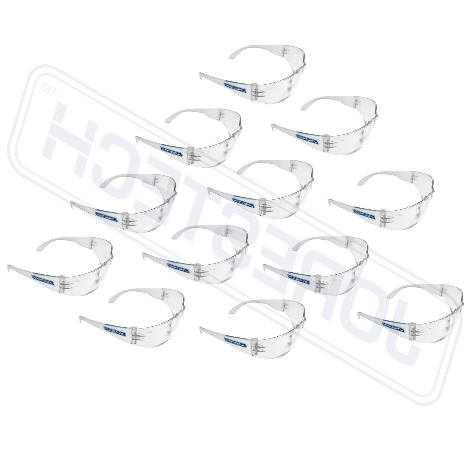 12 pair clear uv400 lens lot safety