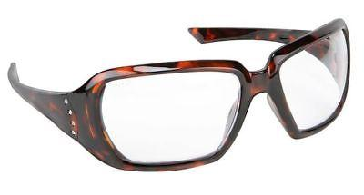 Crews 2 Women's Safety Glasses with Tortoise Frame and Clear