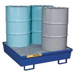 JUSTRITE 28614 Drum Spill Cntnmnt, Blue, 4 Drum, 77 Gal.