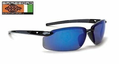 Crossfire 2968 ES5 Safety Glasses Blue Mirror Lens - Shiny B