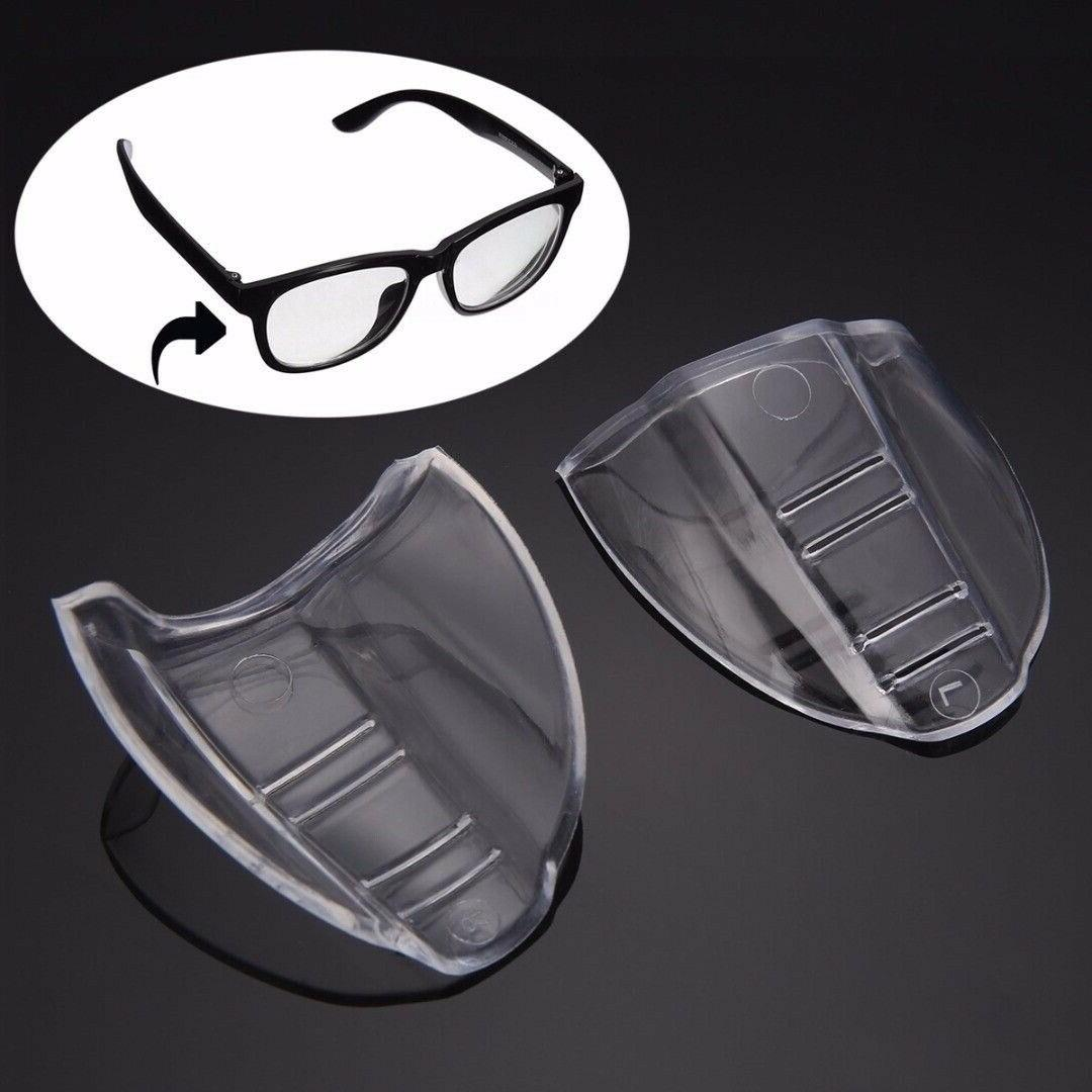 2PCS Clear Universal Side Shields Safety Goggles