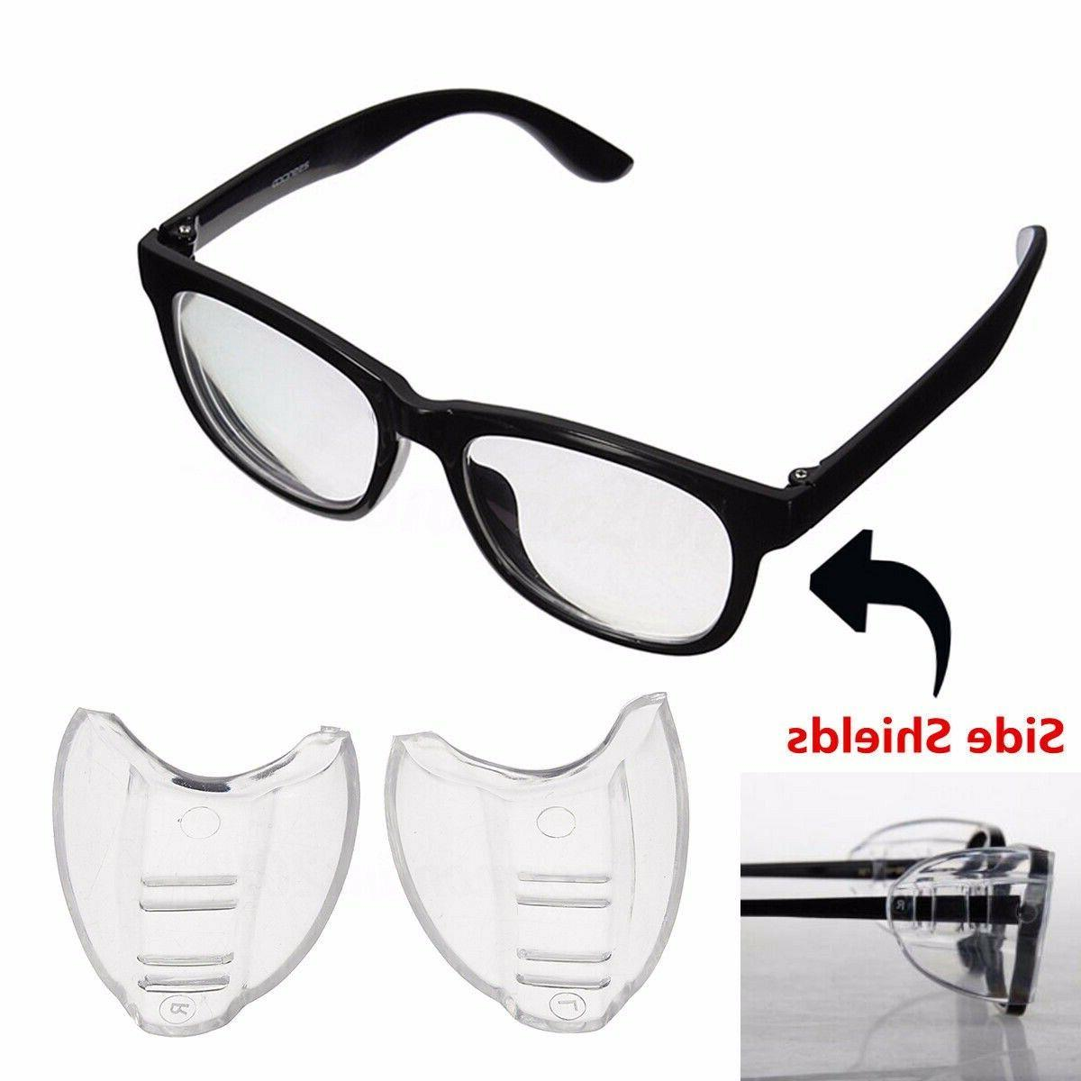 2pcs clear universal flexible side shields safety