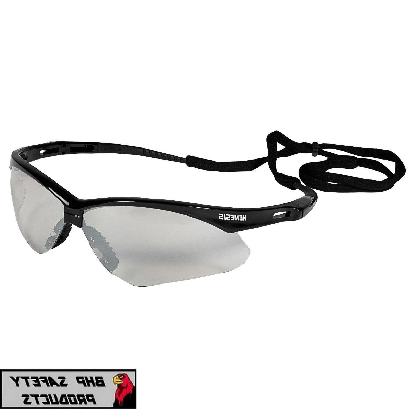 3 pair jackson nemesis safety glasses indoor
