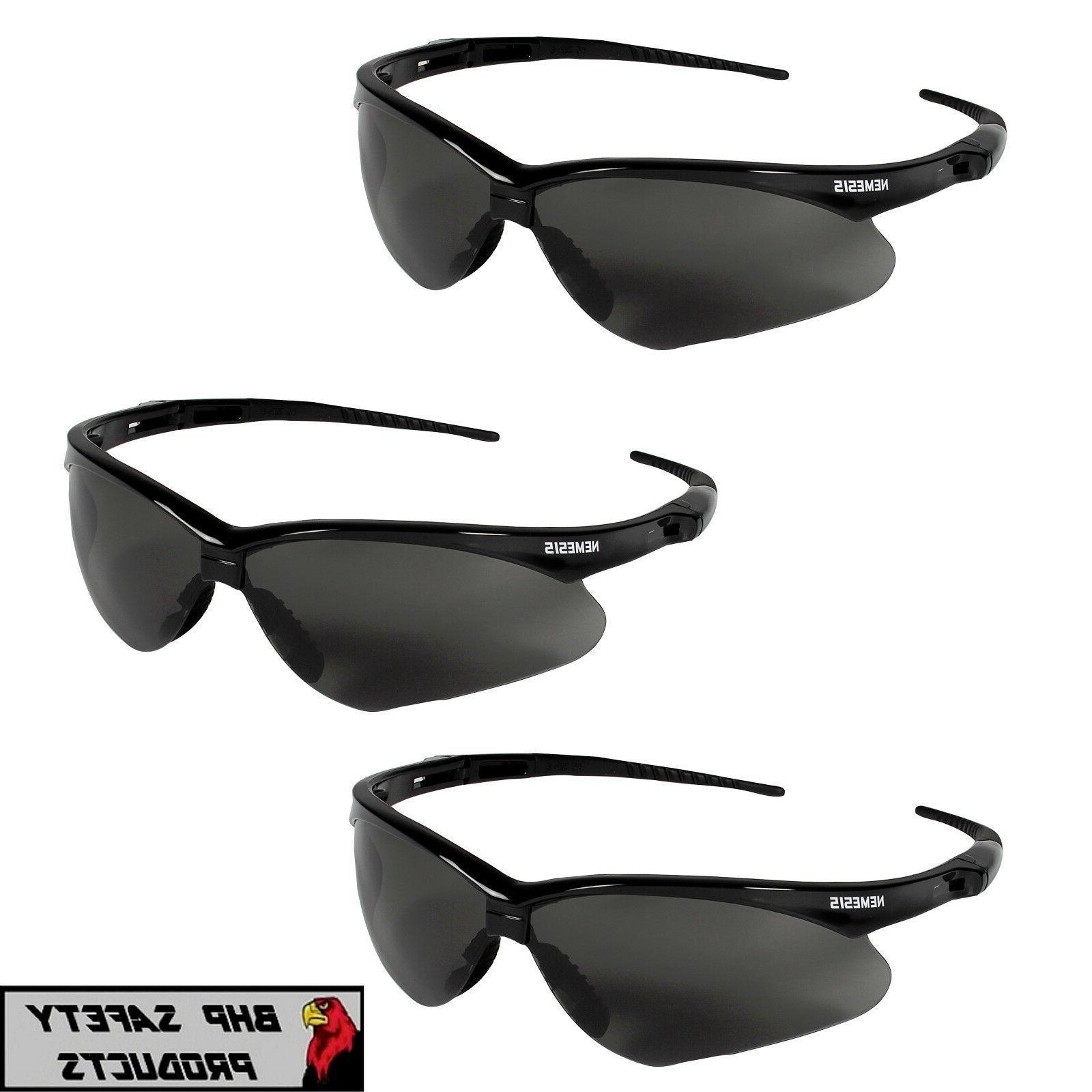 3 pair jackson nemesis safety glasses smoke