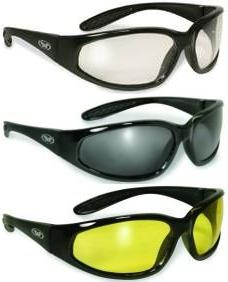 3 sunglasses clear smoked yellow