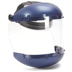 Sellstrom 38140 Blue Plastic CrownChin Guard and Clear Anti-