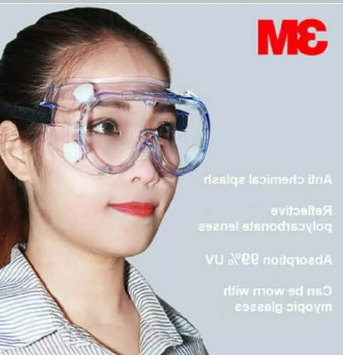 3M Goggles Safety Lab Eye Protection Fog Clear Glass