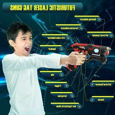 4 Player Gun Set Blaster Team