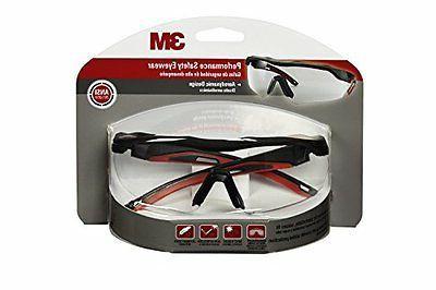 3M 47090-WZ4 Safety Glasses, Anti-Fog, Clear Lens