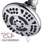 AquaDance® 6-setting functions Large 4.15-Inch Chrome Showe