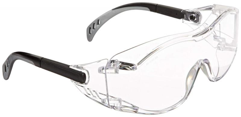 6980 cover2 glasses clear lens black temple