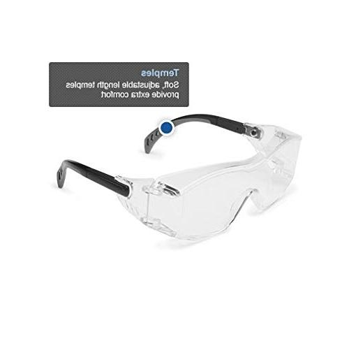 Gateway Safety Safety Wear - Over-The-Glass Clear Lens, Black