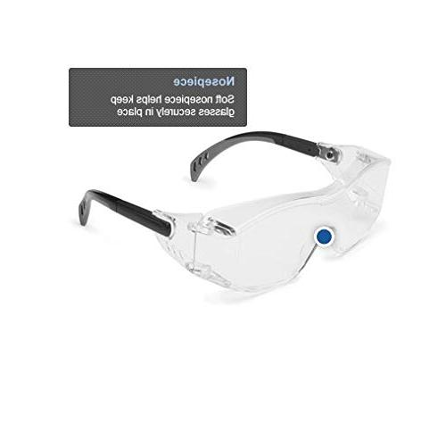 Gateway Safety 6980 Cover2 Safety Glasses Wear - Clear Lens, Black