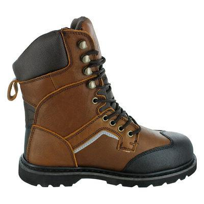 Rugged Blue Steel Work Boots -