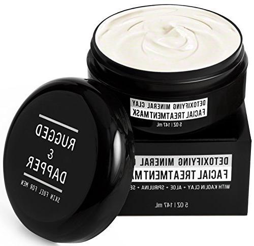 rugged dapper face mask men detoxifying facial treatment kao