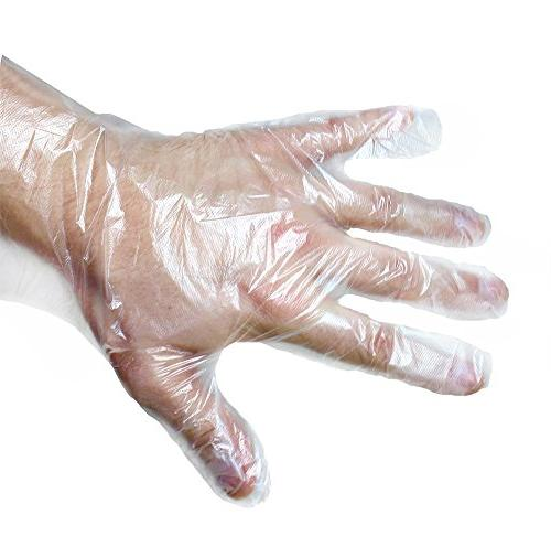 Disposable Food Prep Gloves – 100 Piece Plastic Food Safe
