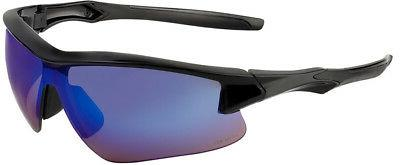 acadia safety glasses with blue mirror lens