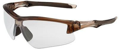 acadia safety glasses with brown frame