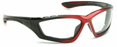 Pyramex Accurist Safety Glasses with Black/Red Frame and Cle
