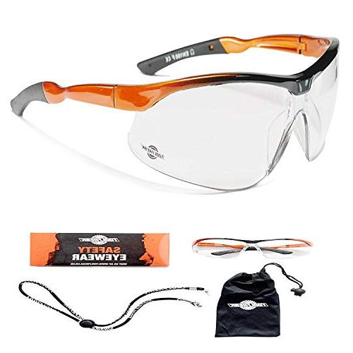 agent safety glasses clear wraparound